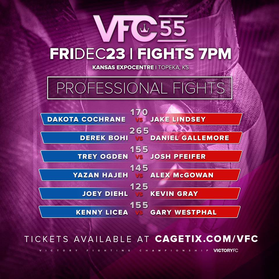 VFC 55, Victory Fighting Championship
