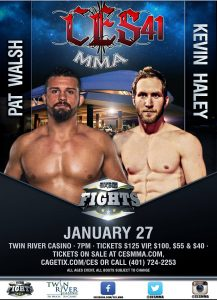Pat Walsh and Kevin Haley, 215-pound catchweight at CES MMA 41