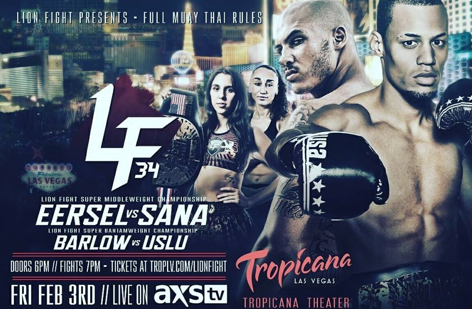 Two title fights & international flair set for Lion Fight 34 at Tropicana Las Vegas