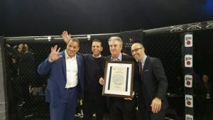 New York State Assemblyman for the 111th Assembly District presents proclamation to WSOF executives at WSOF 34