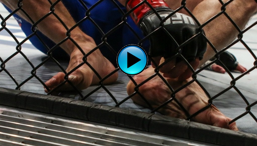 Herb Dean, Jake Ellenberger foot