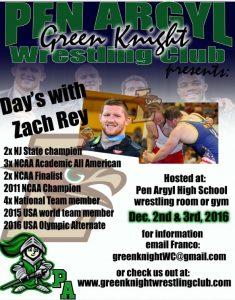 Zach Rey wrestling clinic - Pen Argyl Green Knightsv