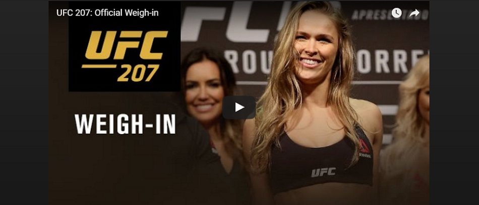 WATCH:  UFC 207 ceremonial weigh-ins – 6 pm EST