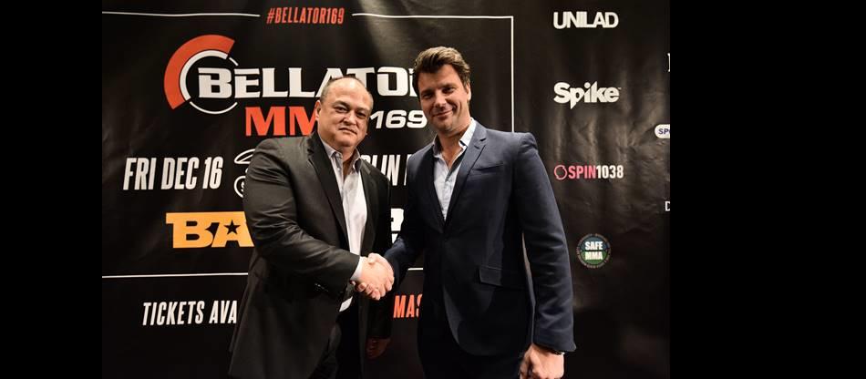 Bellator MMA President Scott Coker took center stage alongside BAMMA CEO David Green