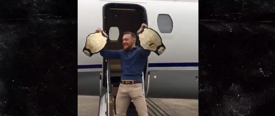 Despite being stripped, Conor McGregor still carrying two belts - VIDEO