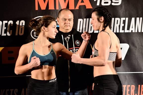 Bantamweight Feature Bout: Elina Kallionidou (135.8 lbs.) vs. Sinead Kavanagh (135.2 lbs.)