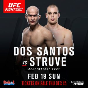 UFC returns to Halifax, dynamic heavyweight matchup, Dos Santos vs Struve