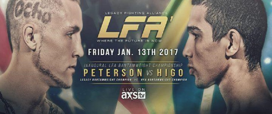 Inaugural Legacy Fighting Alliance card features unification title fight