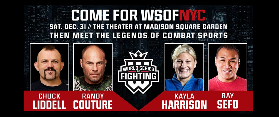Chuck Liddell, Randy Couture to host signing at WSOF NYC show, Dec. 31