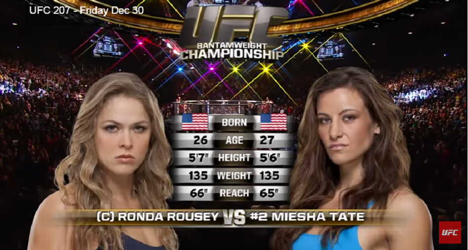 #FreeFightFriday – Watch Ronda Rousey defend UFC belt against Miesha Tate