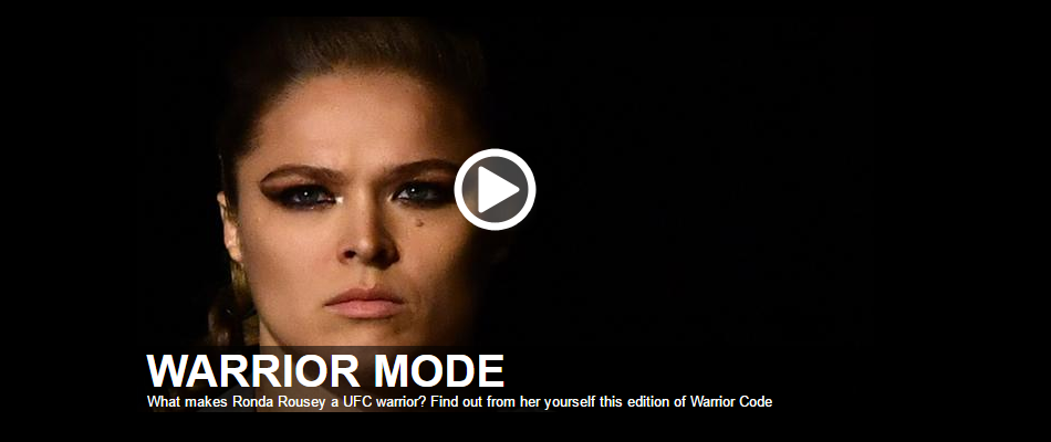 What makes Ronda Rousey a UFC warrior? Find out on Warrior Code