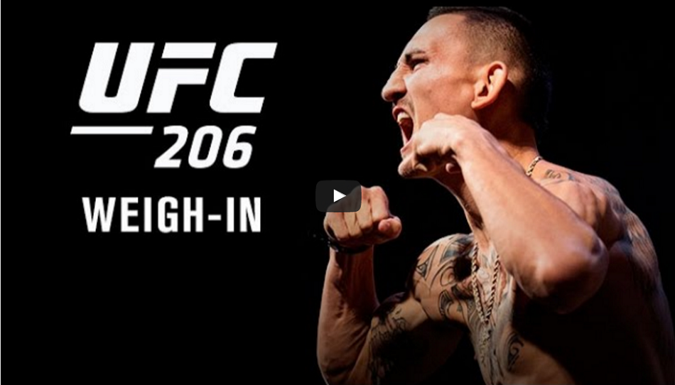 UFC 206 weigh-in results and video – Holloway vs. Pettis