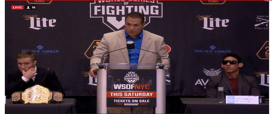 WATCH: World Series of Fighting press conference from Madison Square Garden