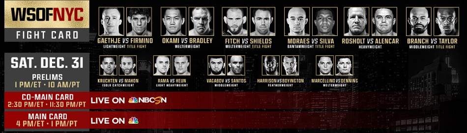 WATCH: LIVE stream - WSOF 34 prelims from Madison Square Garden - 1pm EST