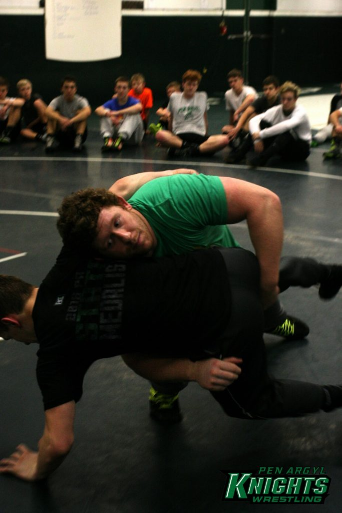 Zach Rey - NCAA champion - wrestling with Pen Argyl Green Knights