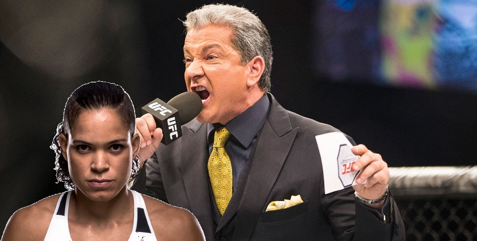 Bruce Buffer:  Amanda Nunes like Chuck Liddell with a clitoris