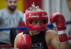 Ronda Rousey boxing - UFC photo via Getty images