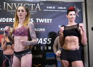 Invicta FC 21 weigh-in results, Megan Anderson vs. Charmaine Tweet