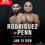 UFC Fight Night 103 - BJ Penn vs Yair Rodriguez