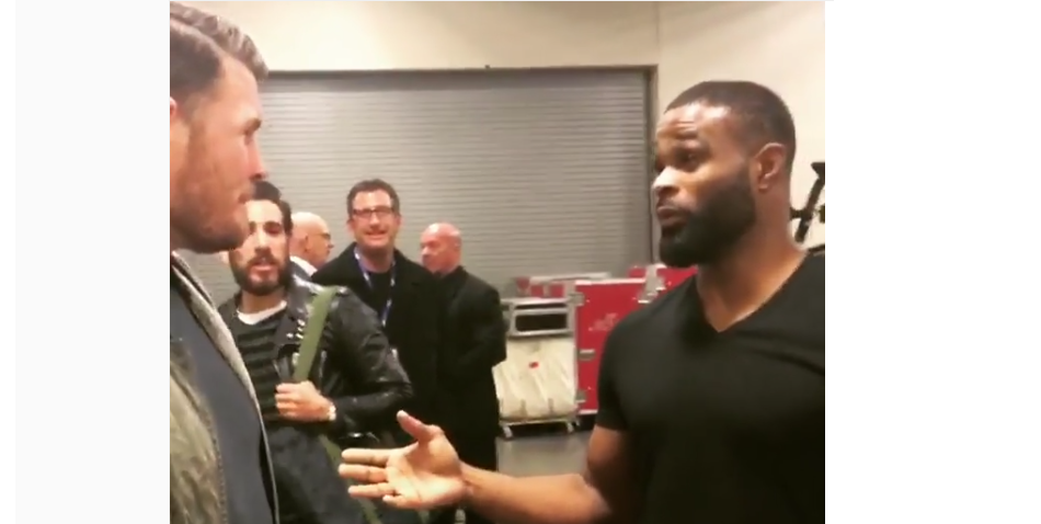 WATCH: Michael Bisping and Tyron Woodley agree to 180 pound fight