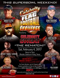 Celebrity Flag Football, Anthony Johnson, Sage Northcutt