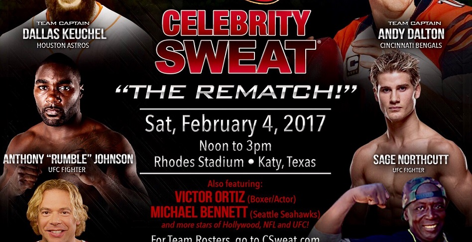 Sage Northcutt, Anthony Johnson to play in Celebrity Flag Football Game
