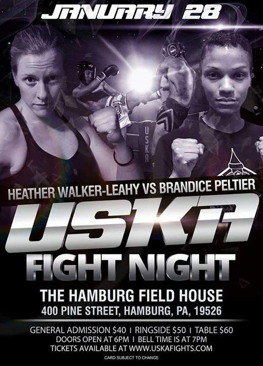 USKA Fight Night - First Professional Female Muay Thai Fights in Pennsylvania, Heather Walker-Leahy vs. Brandice Peltier