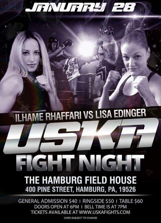 USKA Fight Night - First Professional Female Muay Thai Fights in Pennsylvania,, Ilhame Rhaffari vs. Lisa Edinger