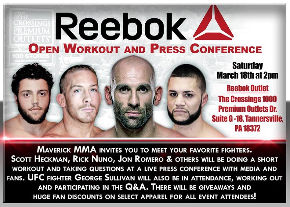 Reebok Outlet at Crossings – Tannersville to hold open workouts March 18