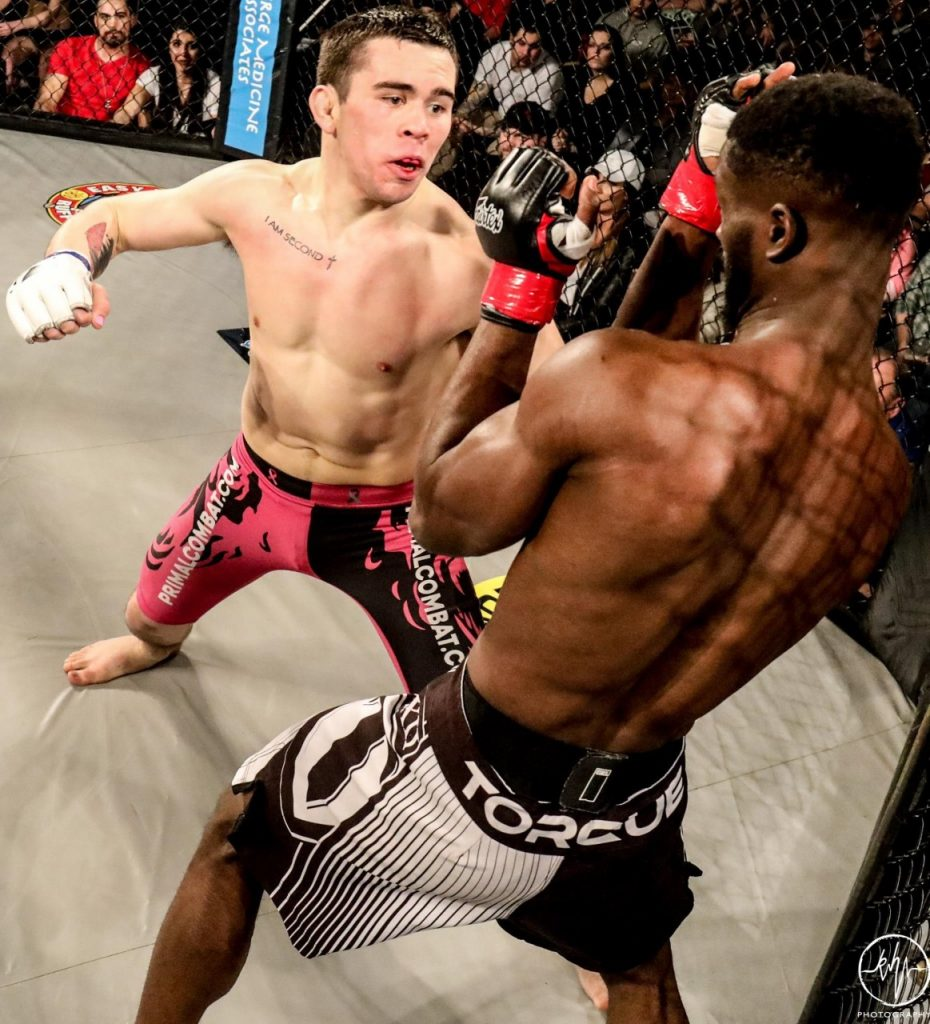 Elijah Ross vs. Seun Adedeji at Northern Quest Casino, February 3. Photo by K. Hartwig Photography