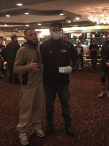Melvis Figueroa donates fight purse and ticket commission to Carlos Moran at PA Cage Fight 27, Feb. 17.