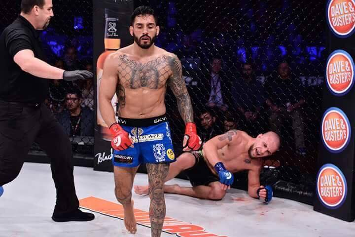 Henry Corrales defeated Cody Bollinger via punch to the body - Bellator 170 - January 21, 2017.