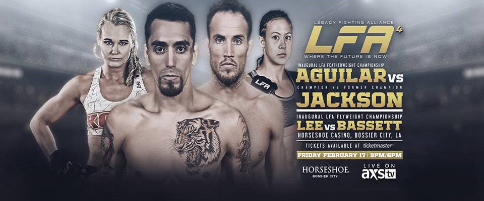 LFA 4 results: Kevin Aguilar vs. Damon Jackson, Andrea KGB Lee vs Heather Bassett