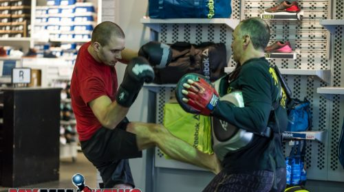 Tim Kunkel - Maverick MMA Open Workouts and Press Conference at Reebok Outlet