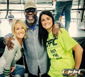 Melissa Skowronski, Burt Watson, and CFFC President Devon Mathiesen - Photo by Manny Fernandes (Mdphotoandink) for CFFC.