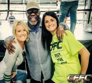 Melissa Skowronski, Burt Watson, and CFFC President Devon Mathiesen - Photo by Manny Fernandes (Mdphotoandink) for CFFC.