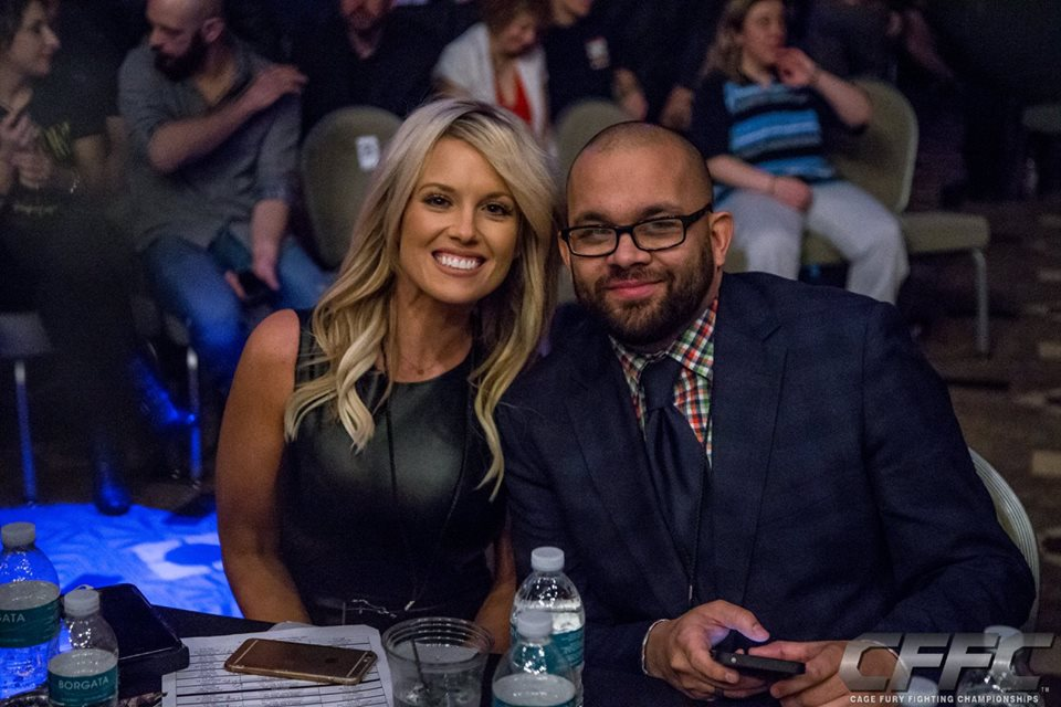 Melissa Skowronski and CFFC matchmaker, Arias Garcia - Photo by Manny Fernandes (Mdphotoandink) for CFFC.
