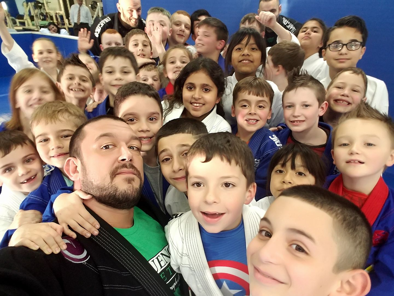 Tom DeBlass and students