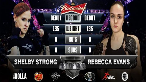 Shelby Strong ready to make mixed martial arts debut at Art of War