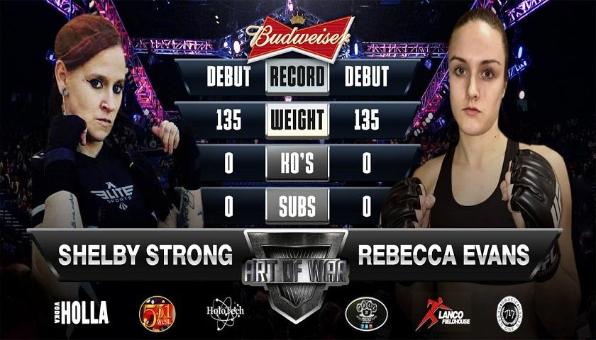Shelby Strong ready to make mixed martial arts debut at Art of War