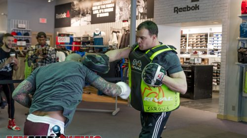 George Sullivan - Maverick MMA Open Workouts and Press Conference at Reebok Outlet