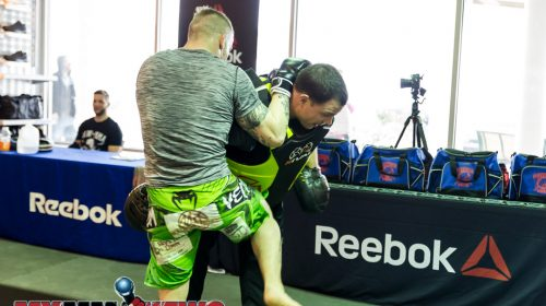Scott Heckman - Maverick MMA Open Workouts and Press Conference at Reebok Outlet