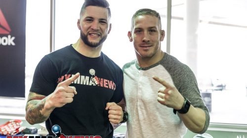 Rick Nuno (left) and Scott Heckman (right) - Maverick MMA Open Workouts and Press Conference at Reebok Outlet