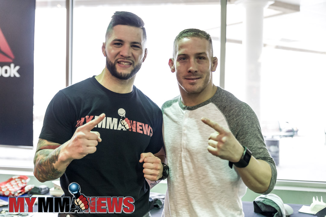 El Numero Uno, Rick Nuno (left) and Scott Heckman (right) - Maverick MMA Open Workouts and Press Conference at Reebok Outlet