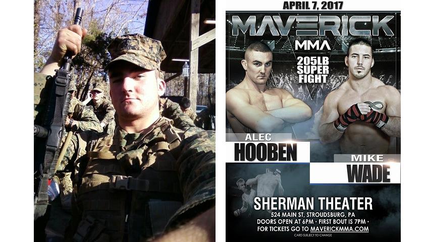 The Marine, Alec Hooben steps back in the cage at Maverick MMA