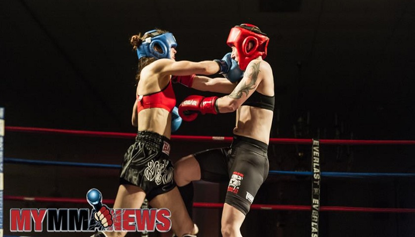 Arielle Webb vs. Liz Mooring - USKA Fight Night - Photo by William McKee