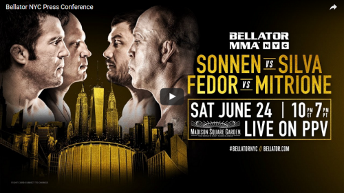 WATCH: Bellator NYC Official Press Conference - 1 p.m. EST