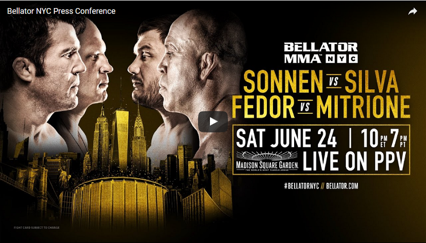 WATCH:  Bellator NYC Official Press Conference – 1 p.m. EST