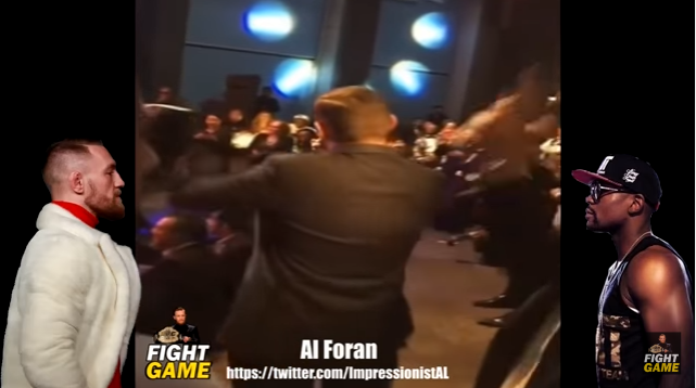 WATCH: Conor McGregor Impersonator Crashes Floyd Mayweather Q&A