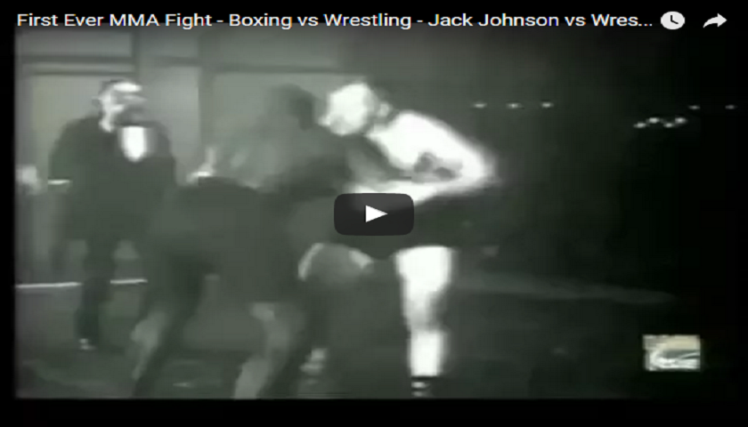 First Ever MMA Fight ? - Boxer, Jack Johnson vs. Wrestler, Fred Marcussen - 1914